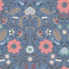 Lewis and Irene Fabrics Michaelmas Little Bird Floral Blue