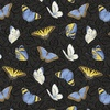 Henry Glass My Sunflower Garden Tossed Butterflies Black/Multi