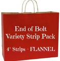 End of Bolt Variety Strip Pack - FLANNEL