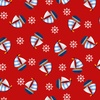 Studio E Fabrics A Whale Of A Time Tossed Sailboats Red