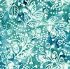 Maywood Studio Bejeweled Batiks Hearts and Flowers Teal/White