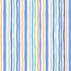 Clothworks Bike Ride Stripe Orange