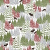 Henry Glass Woodland Haven Flannel Trees and Small Animals