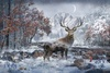 Hoffman Fabrics Call Of The Wild Winter Buck Panel