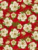 Wilmington Prints Holiday Lane Magnolia Red