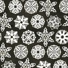 Riley Blake Designs Snow Sweet Paper Snowflakes Charcoal