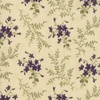Moda Sweet Violet Violets and Ferns Ivory
