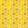 3 Wishes Fabric Feed The Bees Honeycomb Gold
