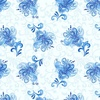 Henry Glass Blue Dream Small Floral Toss Light Blue