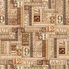 Quilting Treasures Tailor Made Numbers Patch Brown