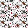 Windham Fabrics Man Cave Playing Cards Black