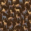 Quilting Treasures Timberland Trail Animal Silhouettes Brown