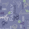 Quilting Treasures Circle of Friends Text Dusty Violet