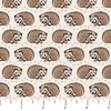 Northcott Woodland Pitter Patter Hedgehogs Tan