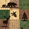 Riley Blake Designs Pinewood Acres Patches Green