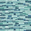 Riley Blake Designs Deep Blue Sea Text Teal