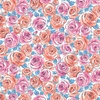 Andover Fabrics Top Drawer Roses Baby Blue