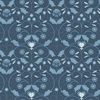 Lewis and Irene Fabrics Michaelmas Blue Mono Floral