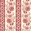 Andover Fabrics Sweet Sixteen Floral Stripe Red