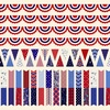Henry Glass Land That I Love Bunting Stripe Panel