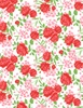 Wilmington Prints Fleurette Rose Garden White/Red
