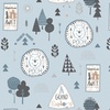 Camelot Fabrics Winnie the Pooh Wonder Whimsy Adventure Awaits Light Blue