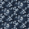 Windham Azul Blooming Branches 108 Inch Backing Navy