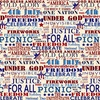 Henry Glass Land That I Love Patriotic Text Cream