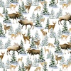 Henry Glass Snowy Woods Animal Scenic Multi