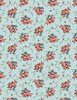 Wilmington Prints Bricolage Floral Bouquet Blue