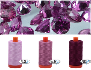 Aurifil Thread Gem Pack - January/Garnet