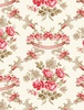 Wilmington Prints Rhapsody In Reds Floral Damask Ivory