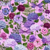 Henry Glass Dragonfly Garden Hydrangea Bouquets Peony Pink