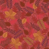 Lewis and Irene Fabrics Under the Oak Tree Leaves Rusty Red
