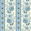 Andover Fabrics Perfect Union Floral Stripe Blue Bell