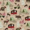 Henry Glass Woodland Haven Flannel Animals and Camping