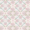 Lewis and Irene Fabrics Winter in Bluebell Wood Floral Geometric Light Grey