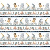 Clothworks Bike Ride Border White