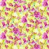 Clothworks Orchid Fancy Packed Floral Yellow