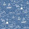 Lewis and Irene Fabrics From Old Harry Rocks Nautical Blue