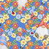 Henry Glass Fabrics Gnome is Where Your Garden Grows Peeking Gnomes Blue