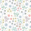 Lewis and Irene Fabrics From Old Harry Rocks Floral White