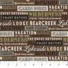 Northcott Lakeside Lodge Flannel Words Brown/Multi