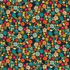 Andover Fabrics Bloom Packed Flowers Teal