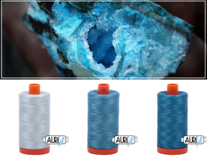 Aurifil Thread Gem Pack - Decmeber/Turquoise