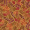 Lewis and Irene Fabrics Under the Oak Tree Leaves Dark Acorn