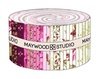 Burgundy and Blush Strip Roll by Maywood Studio