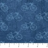 Northcott Paris Always A Good Idea Bicycles Tonal Blue
