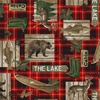 Windham Fabrics Lakehouse Plaid Red