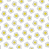 Andover Fabrics The Coop Fried Eggs White